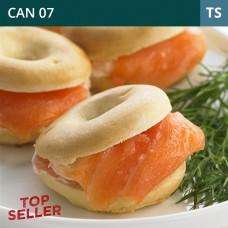 Mini Smoked Salmon & Cream Cheese Bagels-Pack of 45 (1x45)