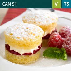 Mini Victoria Sponge-Pack of 48 (1x48)