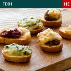 Mini Hot Crostini Selection-Pack of 45 (3x15)