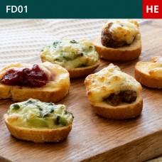Mini Hot Crostini Selection-Pack of 45 (3x15)