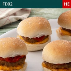 Mini Cheese & Bacon Burger-Pack of 30 (1x30)