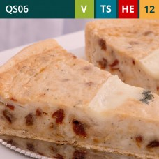 "Brie and Sun-Dried Tomato 11"" Quiche (12-Portions 'Sliced')"