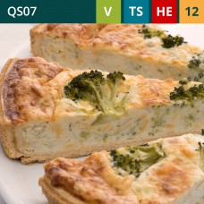 "Stilton and Broccoli Sliced 11""Quiche"